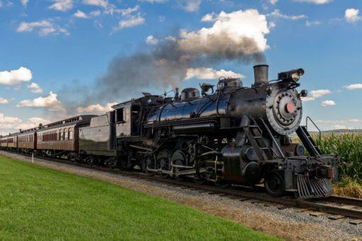Fototapet locomotiva cu aburi Trenuri 12