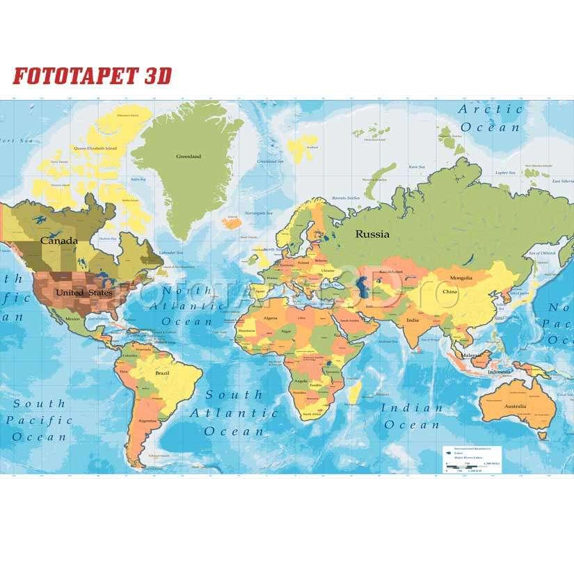 Harta Harta Lumii 3d