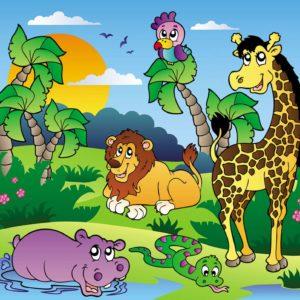 Fototapet - Desen cu animale pentru copii 02