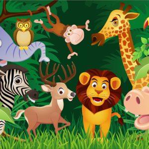 Fototapet pentru copii - Desene cu animale 06