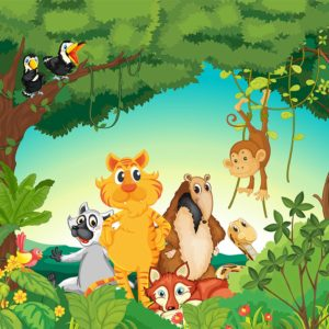 Tapet foto pentru copii: Animale 07