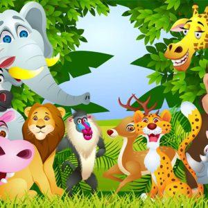 Tapet foto cu animale pentru copii 09