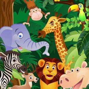 Fototapet pentru camera copiilor - Desen Animale 10