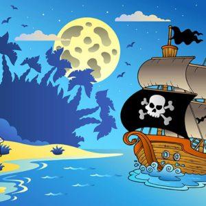 Fototapet Camera Copiilor - Desen cu Pirati 01