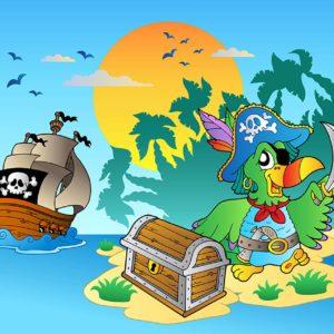 Tapet foto pentru camera copiilor - Desen cu pirati 02