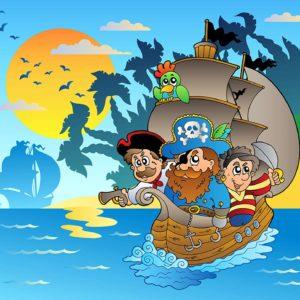 Tapet foto pentru camera copiilor - Desen cu pirati 03