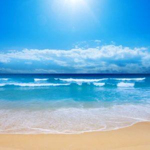 Plaja 13 - Tapet 3D Valuri si soare