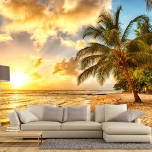 Fototapet 3D Plaja Tropicala 18 - Apus de soare