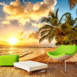 Tapet Foto 3D Apus de soare Plaja 18