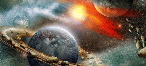 Tapet Foto 3D Planete Sistem Solar