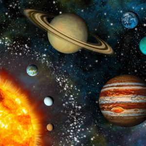 Tapet 3D Sistemul Solar 01