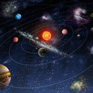 Tapet Foto Sistemul Solar 03