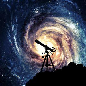 Fototapet 3D Galaxie si telescop - 07