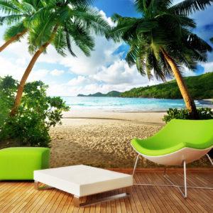 Tapet 3D Peisaj Tropical 18