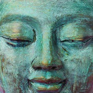 Tablou Canvas Buddha Music 57 x 150 cm 1