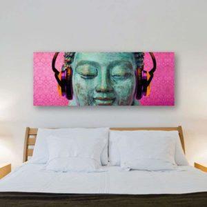 Tablou Canvas Buddha Music 57 x 150 cm 2