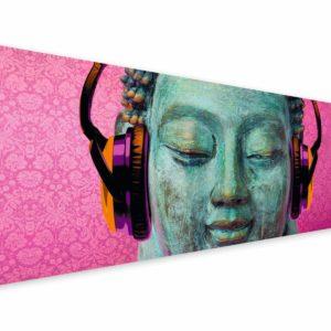 Tablou Canvas Buddha Music 57 x 150 cm 3