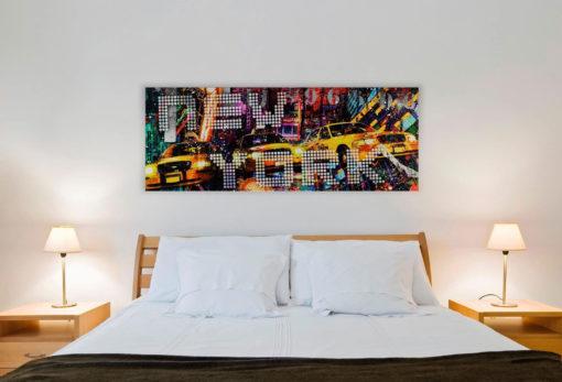 Tablou Canvas New York Taxi 57 x 150 cm Interior