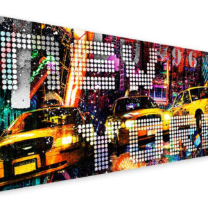 Tablou Canvas New York Taxi 57 x 150 cm