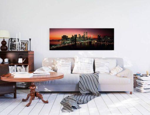 Tablou Podul Brooklyn Bridge Poster - 52 x 156 cm Interior
