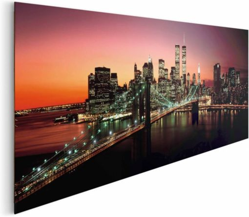 Tablou Podul Brooklyn Bridge Poster - 52 x 156 cm Lateral