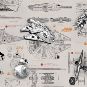 Fototapet Star Wars Blueprints 8-493