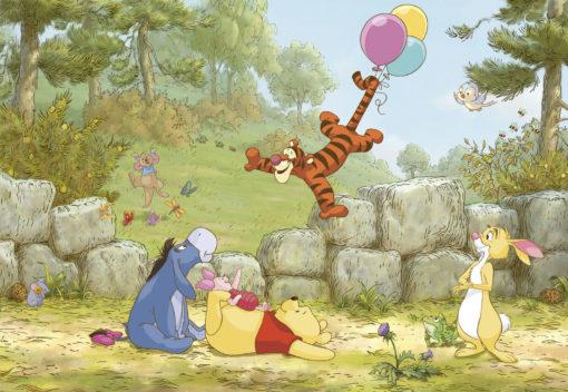 Fototapet Disney Winnie Pooh Ballooning 8-460