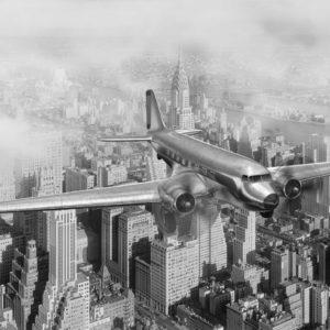 Fototapet Avion New York City 1920 360 x 270 cm