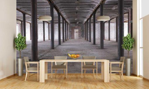 Tapet Foto Design Industrial - Caramida 3D