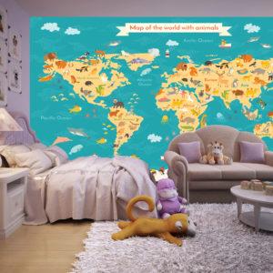 Tapet Foto Harta Pentru Copii 01