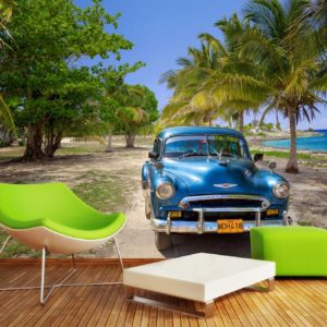 Fototapet Masini Cuba, Chevrolet Bel Air, interior