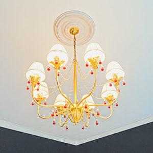 Trandafir de plafon model 1.56.035, simulare camera