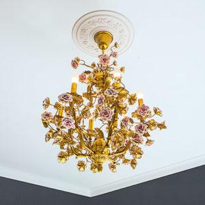 Trandafir de plafon model 1.56.038, simulare camera