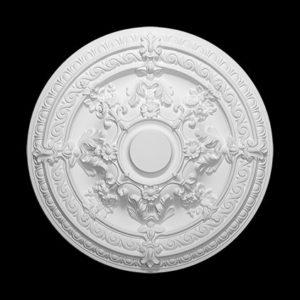 Trandafir de plafon model 1.56.039, profil 3D
