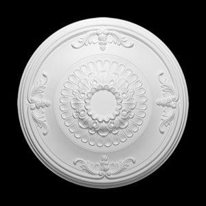 Trandafir de plafon model 1.56.045, profil 3D