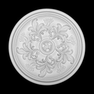 Trandafir de plafon model 1.56.048, profil 3D