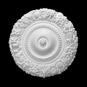 Trandafir de plafon model 1.56.057, profil 3D