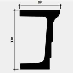 Arhitravă model 1.26.002, secțiune și dimensiuni