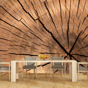 Tapet 3D Textura Lemn - Simulare Bucatarie