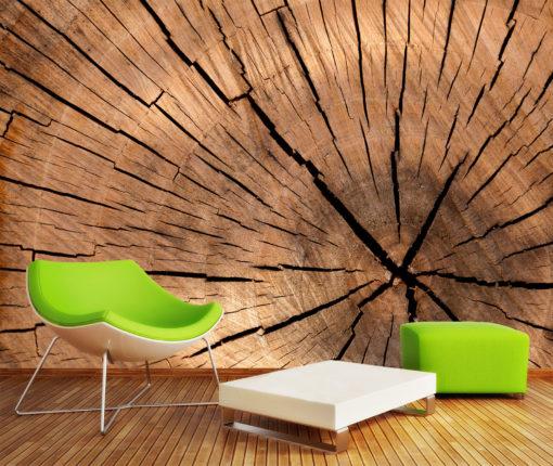 Fototapet 3D Simulare Interior Lemn Textura Fox-24-0105