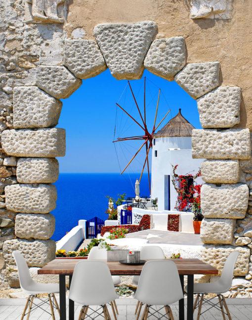 Fototapet Santorini Italia 02 - Simulare Interior Imagine