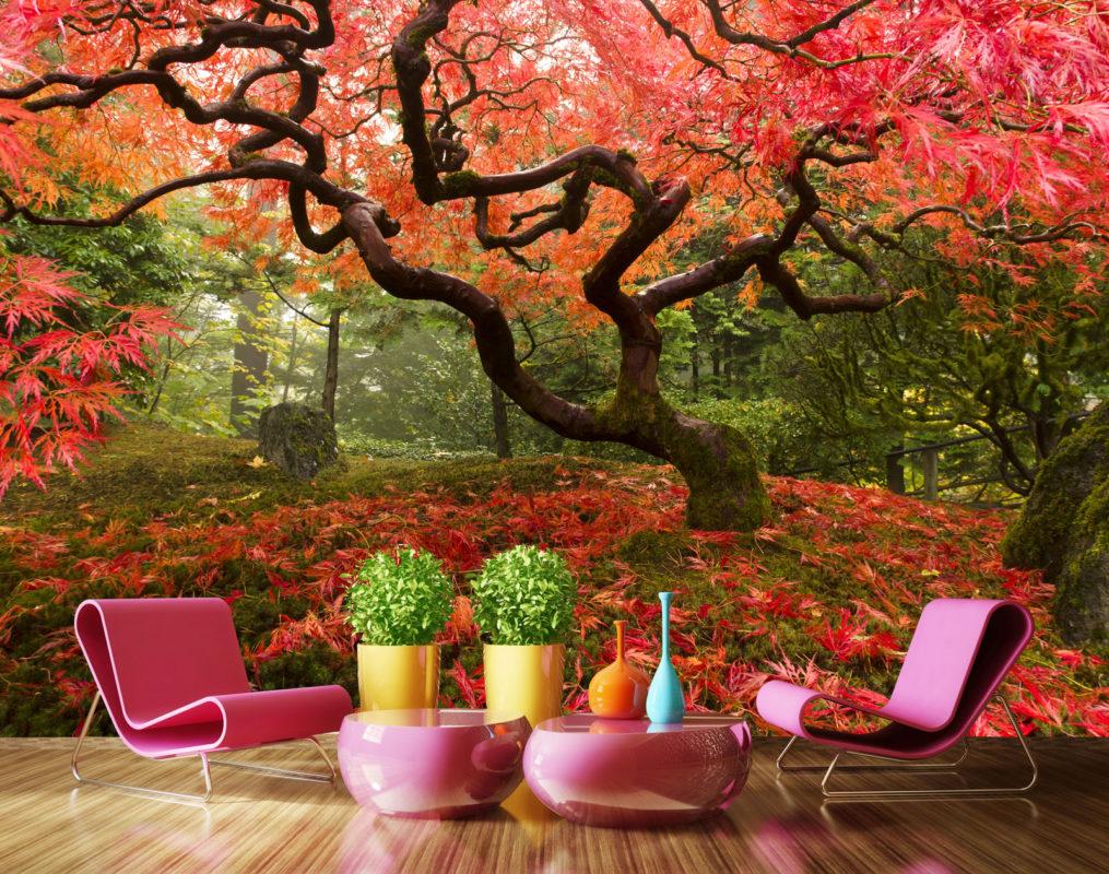 Fototapet Artar Japonez Paduri Fox 01-0313