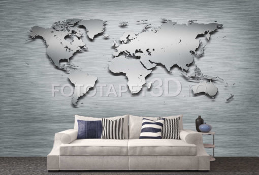 Harta Lumii 11 Fototapet 3D