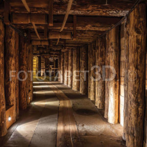 Fototapet Tunel de Lemn