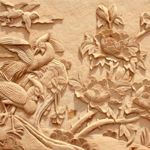 Fototapet Abstract Sculptura in Lemn