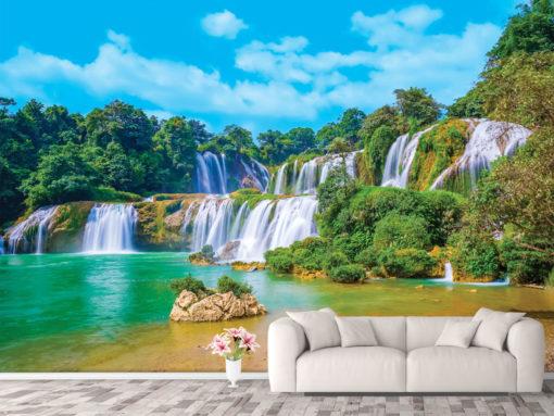 Fototapet la dimensiuni personalizate - Cascada Tropicala
