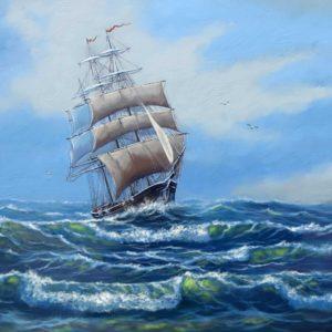 Fototapet Barcă cu pânze