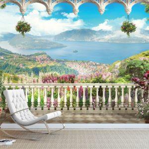 Fototapet vedere de la balcon