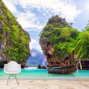 Fototapet Insula Koh Hong Krabi Thailanda