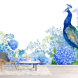 Pictura Paun Albastru - Fototapet